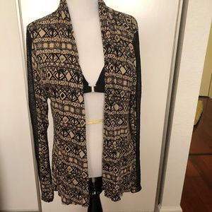 Liberty love size M black sheer cardigan  - EUC